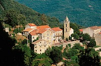Village of Mela in Corsica Island. France