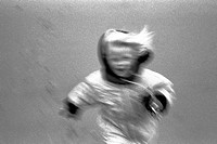 10647939, outside, dynamic, jacket, coat, child, laugh, run girl, black and white, fun, joke, overview, blurs,