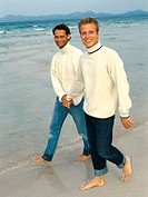 Men walking on the beach