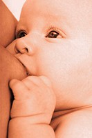 Baby being breastfed (thumbnail)
