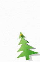 Christmas tree paper cut out