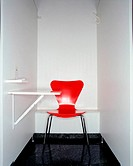 Red chair in hospital