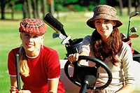 Girlfriends at the golf club
