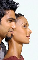 Profile of asian couple