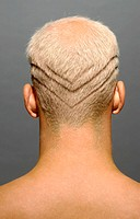 Man with lines shaved in hair