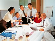 Excited Business People in a Meeting