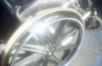 Wheels on wheelchair