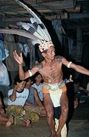 An Iban dancing, Malaysia