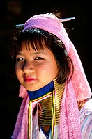 Long neck girl. Padaung Hilltribe. Mae Hong Son. Thailand