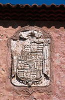 Coat of Arms at the Convent of 'Santa Isabel' fa&#231;ade. Medinaceli. Soria province. Castilla-Leon, Spain