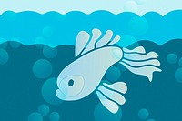 Illustration of a fish in the sea (thumbnail)