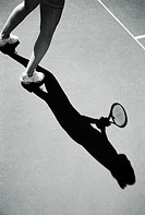 Contemporary image of a tennis player (thumbnail)