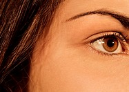 Close up of a pretty european/caucasian girls eye (thumbnail)