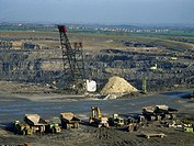 Opencast mining of coal, Butterwell Opencast Mine, near Morpeth, Northumberland.