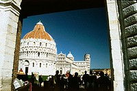 Baptistery, duomo and leaning tower. Pisa. Italy