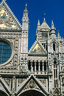 Duomo cathedral, detail. Siena. Tuscany. Italy