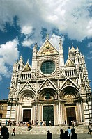 Duomo cathedral and square. Siena. Tuscany. Italy