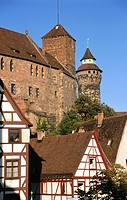 Kaiserburg. Nuremberg. Bavaria. Germany
