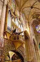 Organ in the cathedral. Palma de Mallorca. Majorca, Balearic Islands. Spain