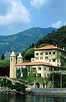 Villa Balbianello and Lake Como. Lenno. Lombardy, Italy