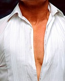 Man wearing very tight shirt