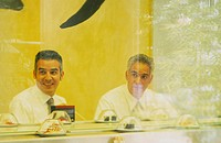 Businessmen, Sushi-Restaurant,