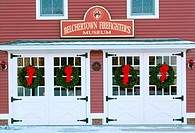 Belchertown fire house, an antique building in Belchertown. Massachusetts, USA