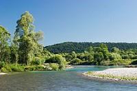 River Isar near Geretsried in Bavaria, Germany