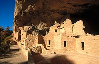 Spruce Tree House in Mesa Verde National Park. Colorado, USA