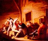 ü Ostade Isaak van ´Bauernstube´  Gemälde Schloß Schleißheim Wein , Betrunkene Bauern , Wein , trinken , Gaststube, Wirtshaus , betrunken , Alkohol , ...
