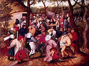 fine arts, Brueghel, Pieter the Younger, 1564 - 1638, painting, ´peasant `s wedding´, Museum of Fine Arts, Ghent, historic, historical, Europe, Nether...