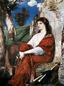 Ü Kunst, Böcklin, Arnold (1827 - 1901),  Gemälde ´Euterpe´, Öl auf Leinwand, Hessisches Landesmuseum, Darmstadt  schweiz., idealismus, klassizistisch,...
