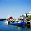 Geo., Kanada, New Brunswick, Bay of Fundy, Fischerort, Hall´ s Harbor,   canada hafen schiff weltweit höchster tidenhub harbour flut