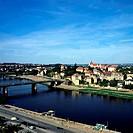 Geo., BRD, Sachsen, Meißen, Blick von der Burg auf die Elbe und die Stadt, elbsandsteingebirge Meissen