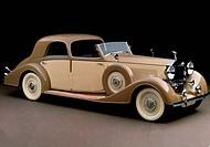 Verkehr historisch. Rolls Royce Sedanca de Ville Modell Phantom III 1938  Originalfarbpostkarte