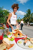 Alfresco dining, New Year´s Day activities. Art Deco District. South Beach. Miami Beach. Florida. USA