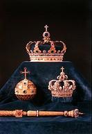 Schmuck hist.- Kronjuwelen, Bayern, Königskronen Reichsapfel, Zepter hergestellt v. Martin-Guillaume Biennais, Paris 1806 Schatzkammer, Residenz, Münc...