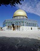 Geografie, Israel, Jerusalem, Felsendom (Omar Moschee) Außenansicht  goldene kuppel