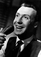 Film, ´Ein Mann muß nicht immer schön sein´, BRD, 1956, Regie: Hans Quest, Szene mit Peter Alexander, Porträt  Singen sänger, Mikrofon mikrofonkopf in...
