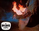 C Film,´Die Nibelungen Teil 1 - Siegfried von Xanten´, BRD 1966, Regie: Harald Reinl Szene mit Uwe Beyer, COLOR AUSHANGBILD !!! sigfried gegen den dra...