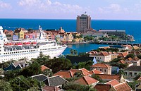 Willemstad view from Otrobanda toward Punda. Caribbean