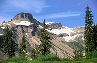 Table Mountain and Heather Meadows Area. Cascade Mountain Range. Mount Baker-Snoqualmie National Forest. Washington. USA