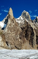 Mountains Karakorum in Biafo Glacier Region. Pakistan
