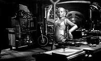 Film ´Der 200 Jahre Mann´ (Bicentennial Man) USA 1999, Regie: Chris Columbus, Szene mit Kiersten Warren    roboter, automatische haushaltshilfe,  zuku...
