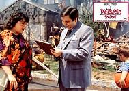 col. Film ´Die Teufelin´ (She-Devil) USA 1989, Regie: Susan Seidelman, nach einem Roman von Fay Weldon, Szene mit Roseanne Barr & NIPs ORIGINAL AUSHAN...