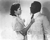 SW Film, ´Fünf Millionen suchen einen Erben´,  Deutschland 1938, Regie Carl Boese, Szene mit NIPs,  komödie, schwarzer, diener, am kragen packend, hal...