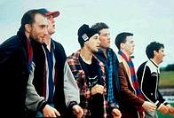 Film, ´Bootmen´, USA/Australien 2000, Regie Dein Perry, Szene mit Andrew Kaluski, Christopher Horsey, Adam Garcia, Sam Worthington & NIPs,  tanzfilm, ...
