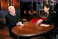 Fernsehshow, ´Menschen bei Maischberger´, 2003 - ???, ARD, Moderatorin: Sandra Maischberger (* 26.8.1966) Gast: Altbundeskanzler Helmut Schmidt, Träne...