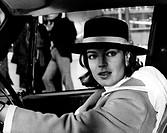 Schneider, Romy  23.9.1938 - 29.5.1982 dt. Schauspielerin, in einem Auto sitzend, wahrsch. Filmszene, Mai 1968  hut, fahren, frau, 60er jahre, elegant...