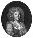 A4 - Neuber, Frederike Caroline, 9.3.1697 -  30.11.1760, deut. Schauspielerin, Brustbild, in der  Rolle der ´Elisabeth´, Lithografie nach Gemälde von ...